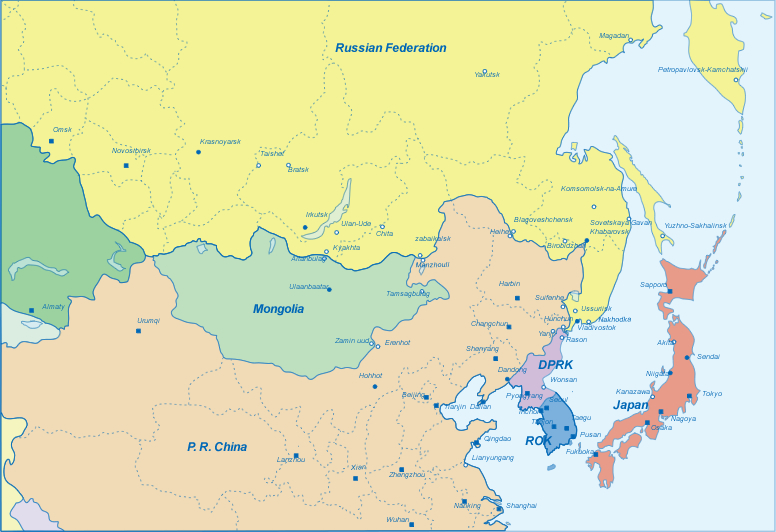 Maps of northeast asia data the economic research institute for political map of northeast asia gumiabroncs Gallery